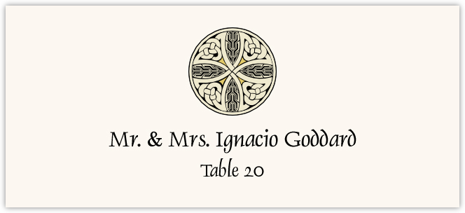 Celtic Cross 07  Place Cards