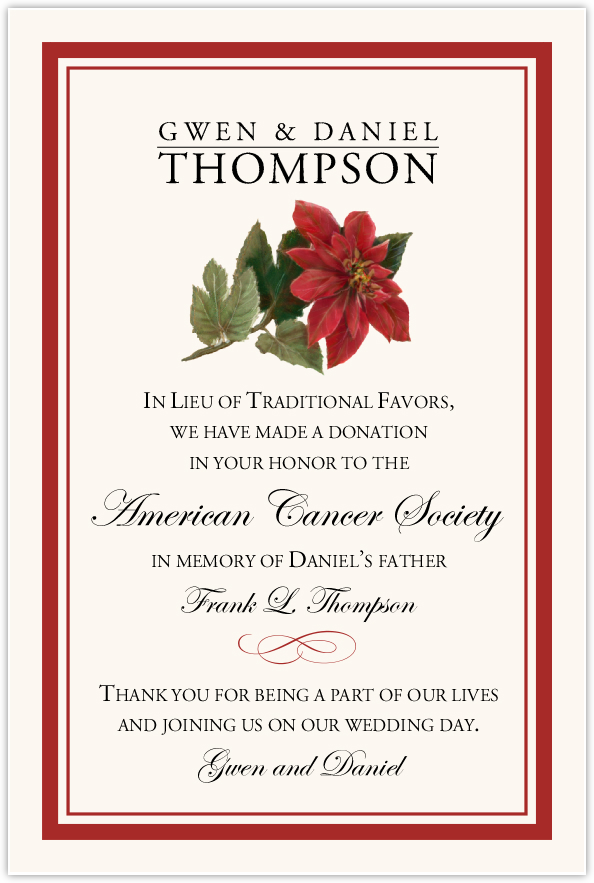 Poinsettia  Donation Cards