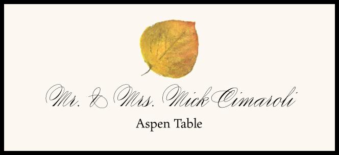 Aspen Colorful Leaf  Place Cards