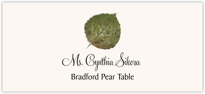 Bradford Pear Colorful Leaf  Place Cards