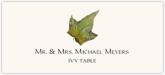 Ivy Colorful Leaf  Place Cards