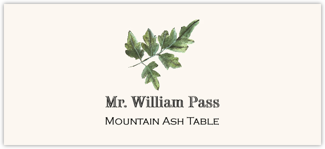 Mountain Ash Colorful Leaf  Place Cards