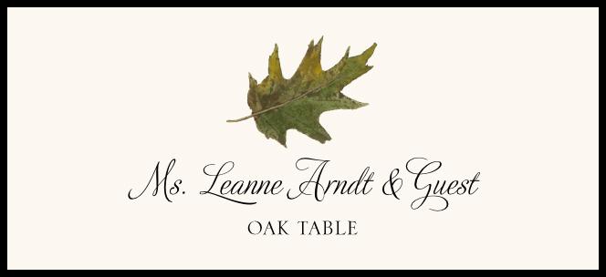 Oak Colorful Leaf  Place Cards
