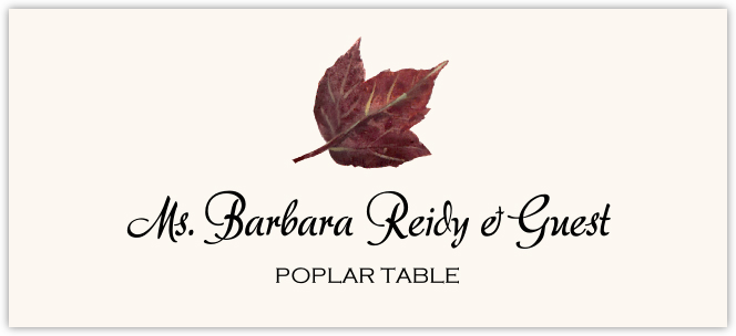 Poplar Colorful Leaf  Place Cards