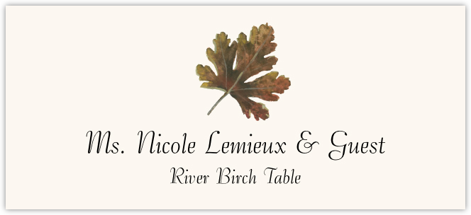 River Birch Colorful Leaf  Place Cards