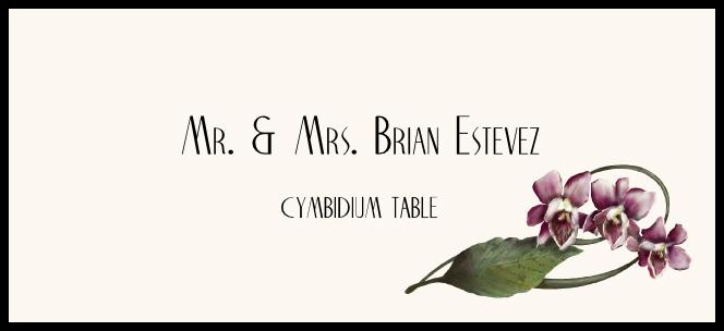 Cymbidium  Place Cards