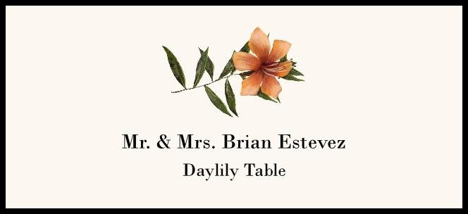 Daylily  Place Cards