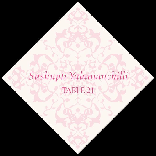 Diamond Mandala  Place Cards