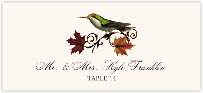 Fall Indy  Place Cards