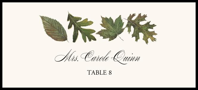 Leaf Pattern Assortment  Place Cards