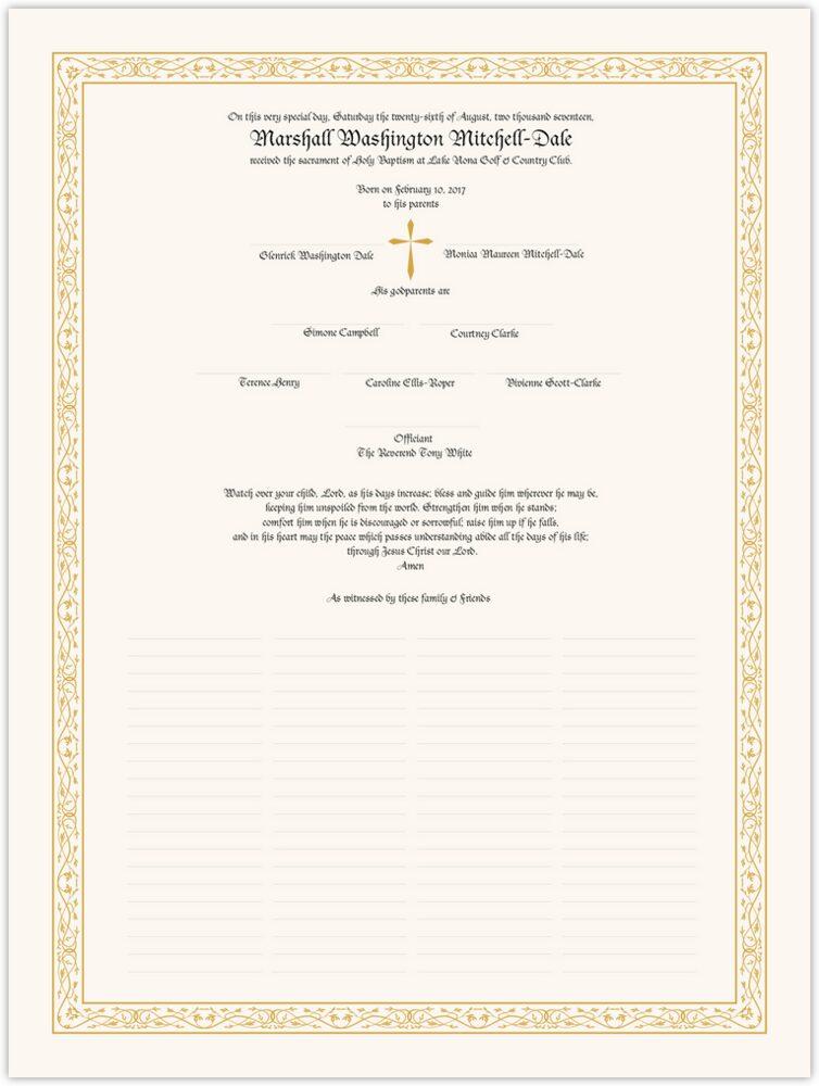 Blackletter Gothic  Wedding Certificates