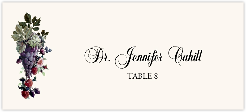 Grapes and Berries  Place Cards