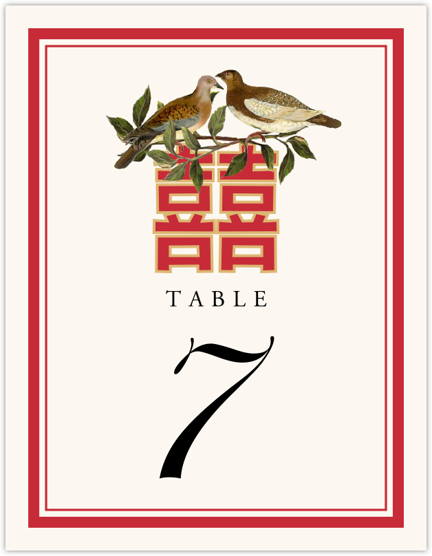 Happy Birds  Table Numbers