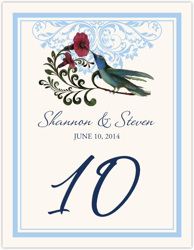 Humdilly Flourish  Table Numbers