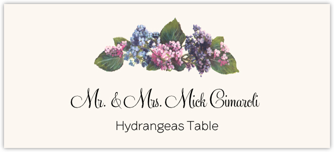 Assorted Flowers  Place Cards