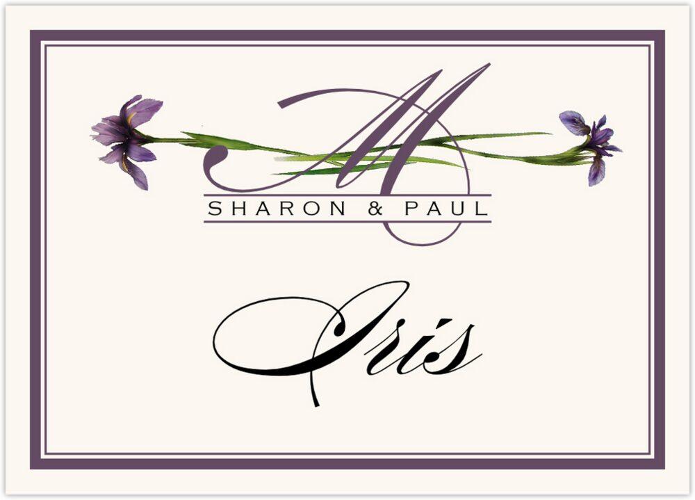 Wispy Iris  Table Names