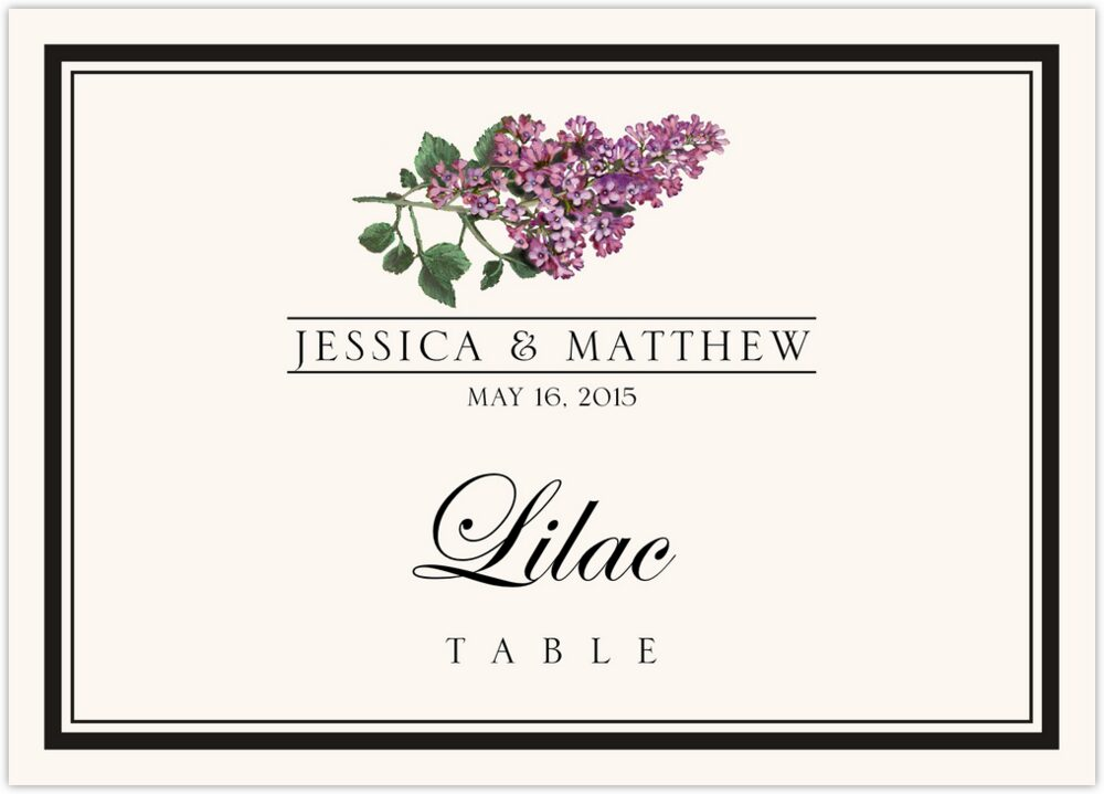 Assorted Flowers and Monogram  Table Names