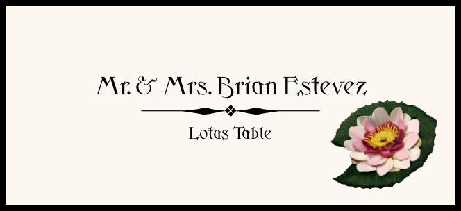 Lotus  Place Cards