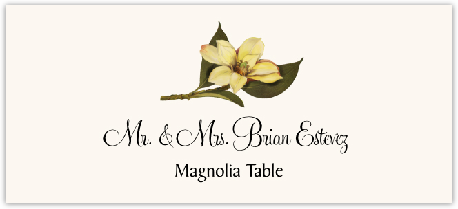Magnolia  Place Cards