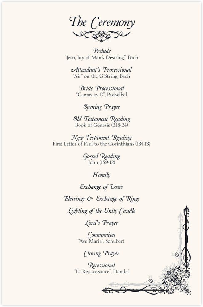 Midsummer's Night Dream  Wedding Programs