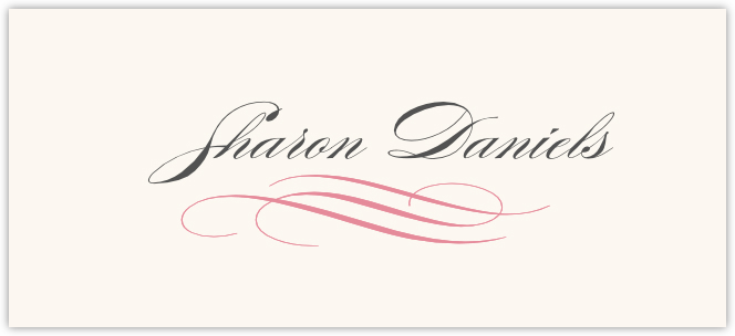 Ornate Line Flourish 0637  Place Cards