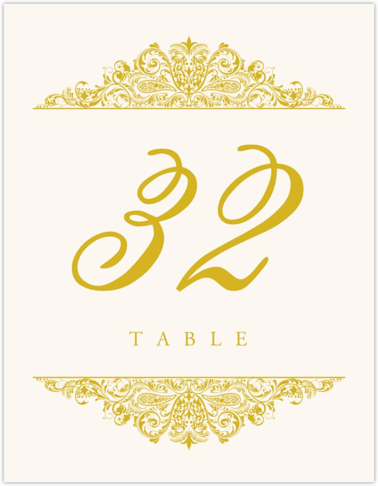 Paisley  Table Numbers
