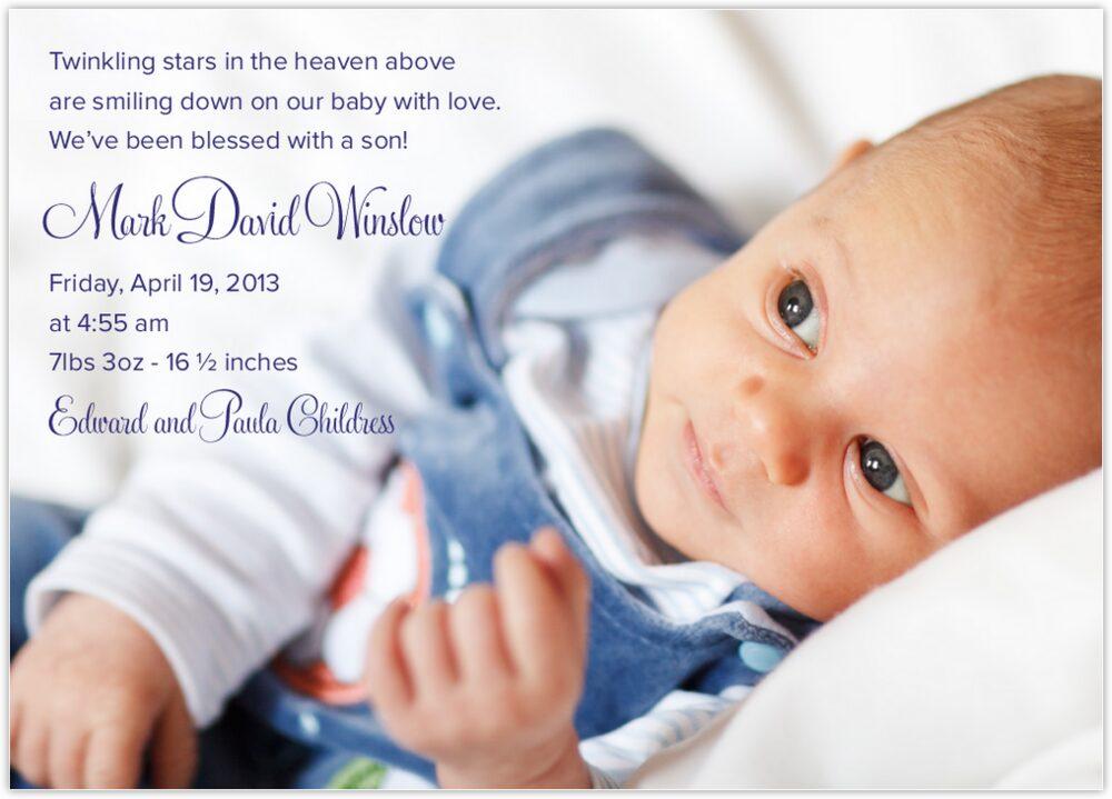 Starstruck  Birth Announcements