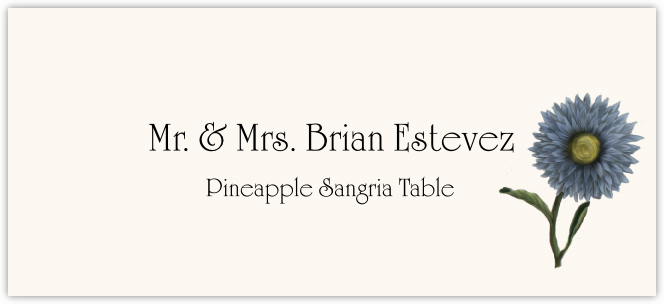 Pineapple Sangria  Place Cards