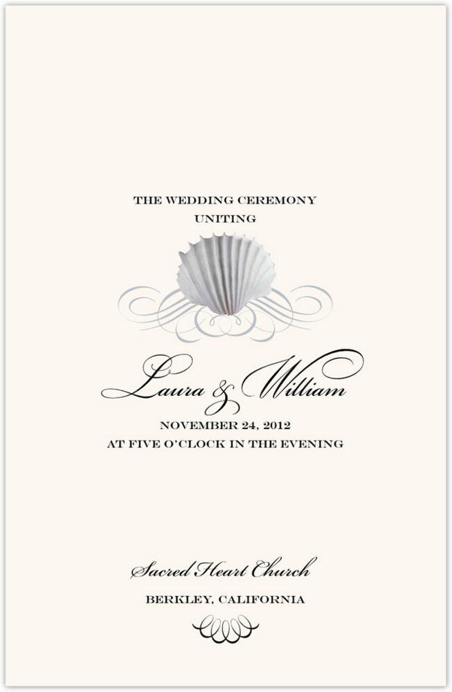 Seashell Scallop Swirl  Wedding Programs