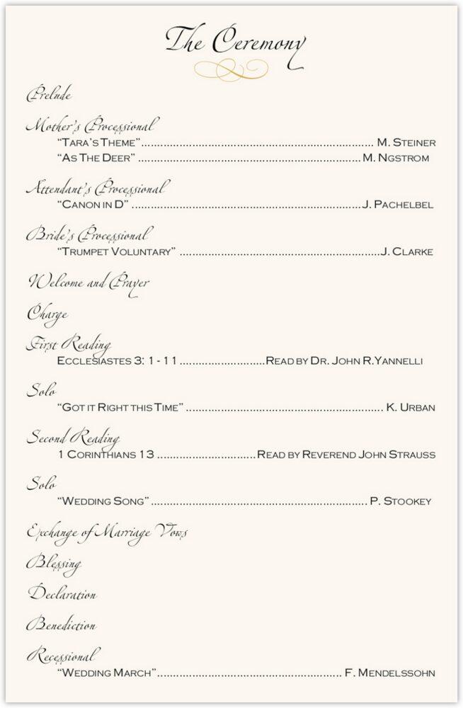 Seashell Pattern 09  Wedding Programs