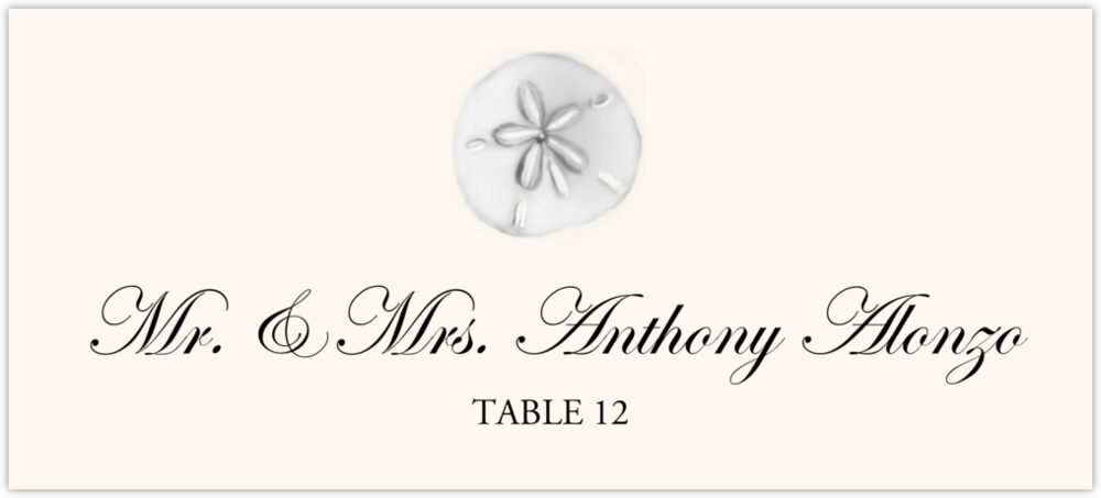 Silver Sand Dollar  Place Cards