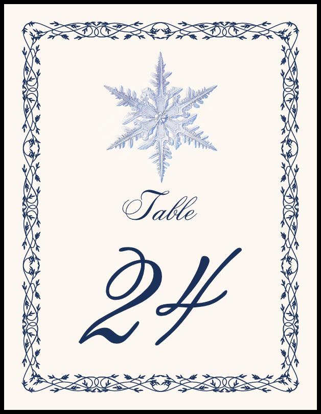 Snowflake 06  Table Numbers