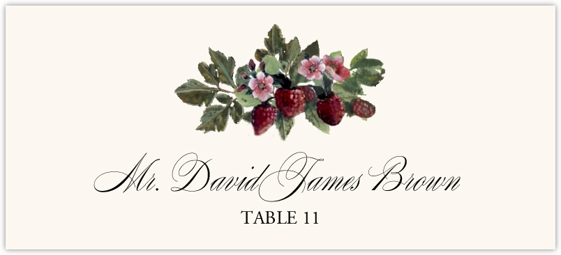 Strawberry Patch  Place Cards