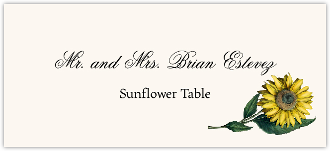 Sunflower  Place Cards