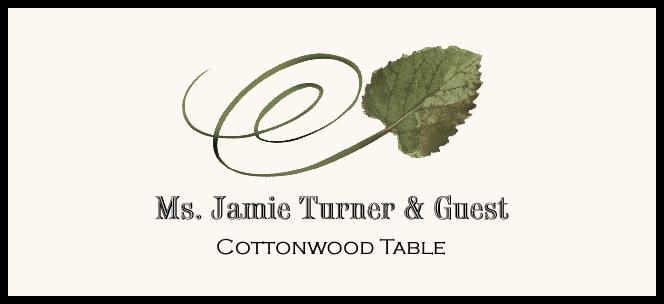Cottonwood Swirly Leaf  Place Cards