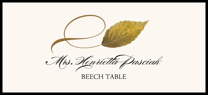 Beech Twisty Leaf  Place Cards