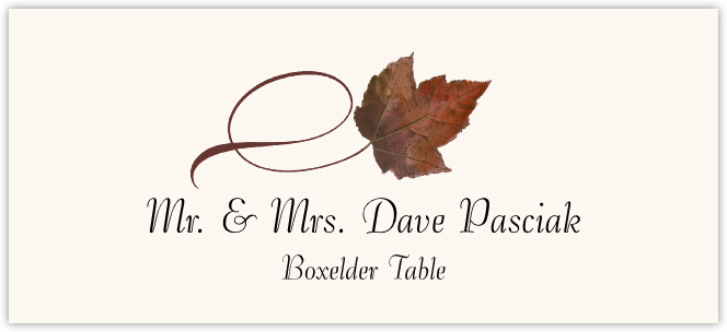 Boxelder Twisty Leaf  Place Cards