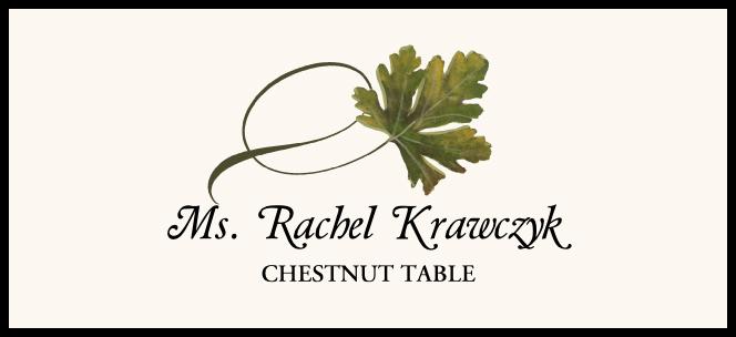 Chestnut Twisty Leaf  Place Cards