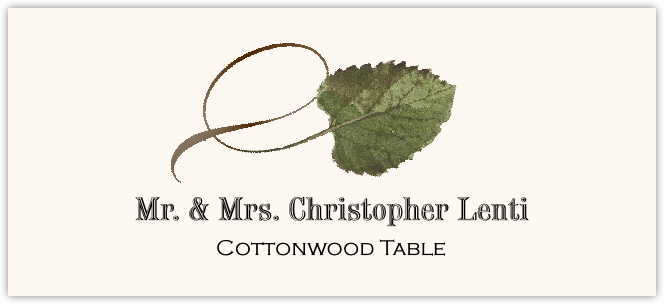 Cottonwood Twisty Leaf  Place Cards
