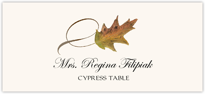 Cypress Twisty Leaf  Place Cards