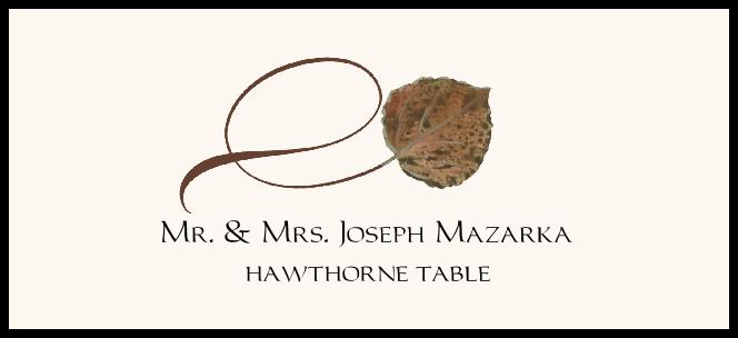 Hawthorne Twisty Leaf  Place Cards