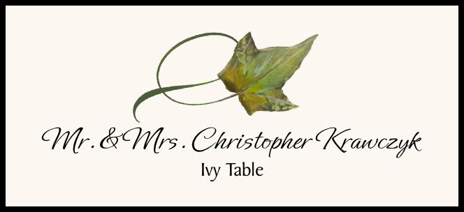 Ivy Twisty Leaf  Place Cards