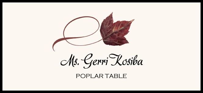 Poplar Twisty Leaf  Place Cards