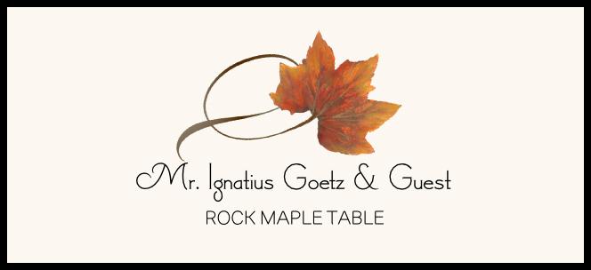 Rock Maple Twisty Leaf  Place Cards