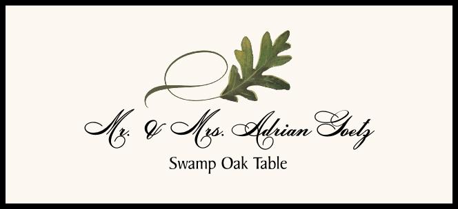 Swamp Oak Twisty Leaf  Place Cards