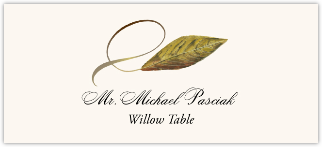 Willow Twisty Leaf  Place Cards