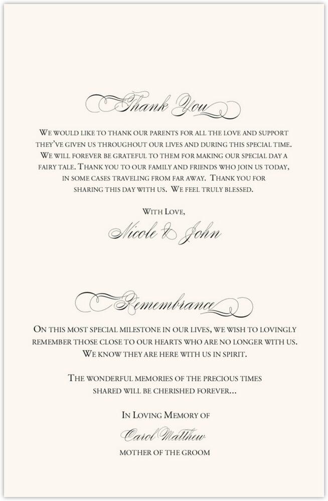 Two Pears  Wedding Programs