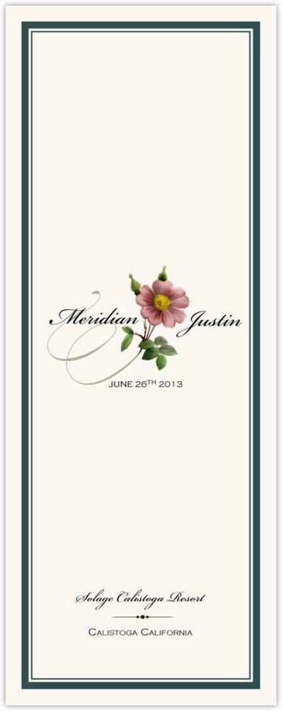 Wild Pink Rose Swirl  Wedding Programs