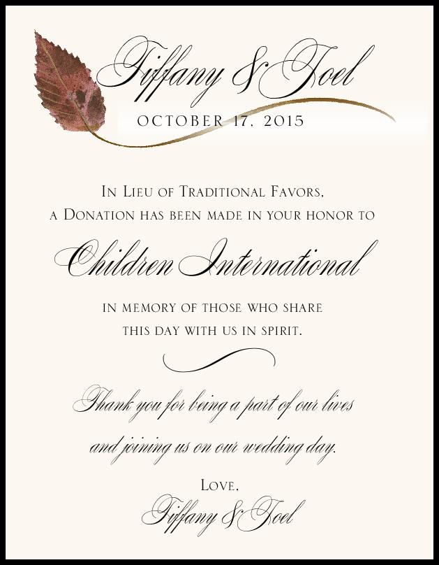Ironwood Wispy Leaf  Donation Cards