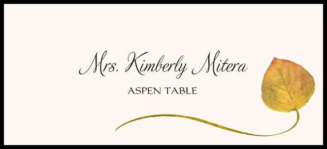 Aspen Wispy Leaf  Place Cards